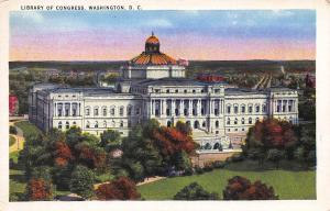 Library of Congress, Washington, D.C., Early Postcard, Unused