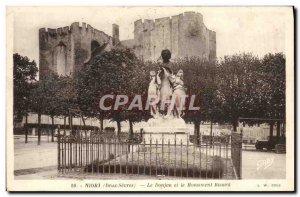 Old Postcard Niort Donjon and Ricard Monument