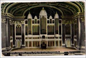 ME - Portland. Herman Kotzschmar Organ, New City Hall  (creases)