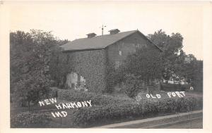 E43/ New Harmony Indiana In Real Photo RPPC Postcard c1910 Old Fort