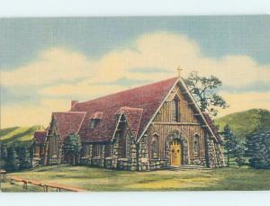 Unused Linen CHURCH SCENE Estes Park - Near Denver Colorado CO G3727