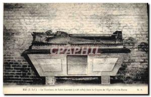 Old Postcard In The tomb of Saint Laurent in the crypt of Our Lady & # 39eglise