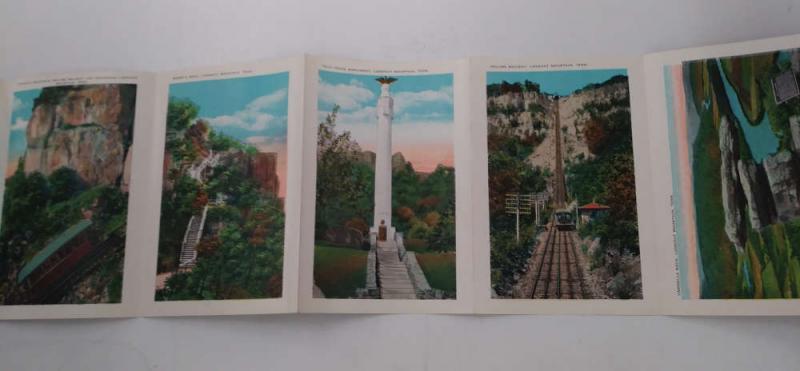Lookout Mountain Tennessee Scenic Views Birds Eye Vintage Postcard Folder J74218