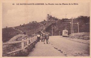 Le Havre-Sainte-Adresse, Seine Maritime, France, 1900-10s; Road to Lighthouse