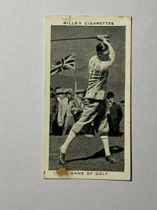 CIGARETTE CARD - WILLS KING & QUEEN #16 A GAME OF GOLF 1924   (UU100)