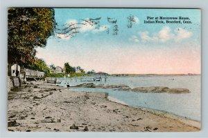 Branford CT-Connecticut, Pier Montowese House Indian Neck Vintage c1916 Postcard
