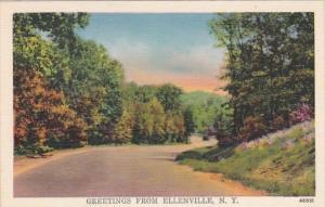 New York Greetings From Ellenville