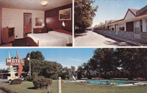 3-Views, Motel Plaza Enr., Swimming Pool, STE-FOY, Quebec, Canada, 1940-1960s