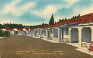 Cartersville-Calhoun GA~Jones Tourist Court~Cottages~1940~Postcard