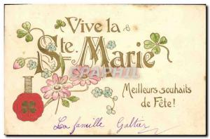 Postcard Old Female First name Mary Clover
