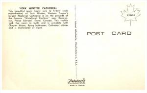 14879   PEI  Kensington 1960's  Woodleigh Replicas  York Minister Cathedral