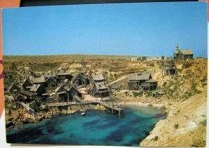 Malta Popeye Village Anchor Bay unposted marked 1985