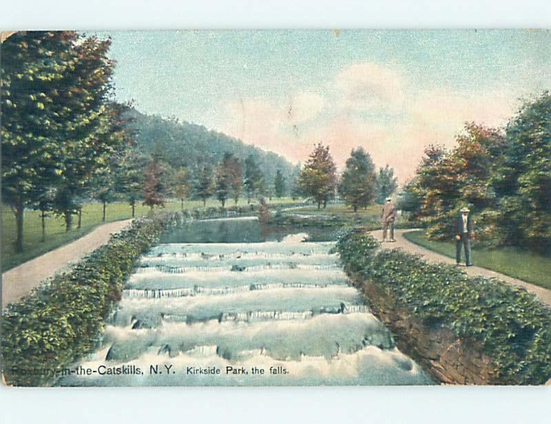 Div-Back PARK SCENE Catskills - Near Kingston & Poughkeepsie New York NY hk8362