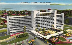 Panama City Panama 1956 Postcard Hotel El Panama