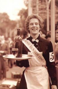 Festival Gardens 1933 Miss Enid Soffe of Llandudno poses, Nostalgia Reprint