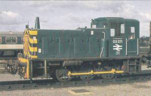 Class 03 Shunter Locomotive No. 03 371 at York Depot