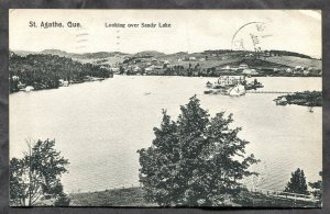 dc204 - ST AGATHE Quebec 1907 Looking over Sandy Lake