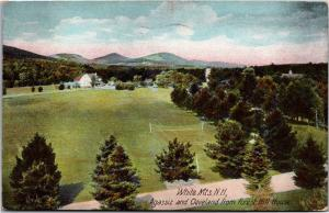 Agassiz and Cleveland from Forest Hill House, White Mts NH c1908 Postcard L03