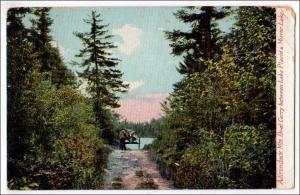 Boat Carry, Lake Placid - Mirror Lake NY