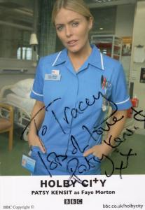 Patsy Kensit as Faye Morgan BBC Holby City Hand Signed Cast Card