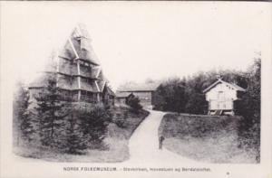Norway Norsk Folkemuseum Stavkirchen Hovestuen eg Berdalsloftet
