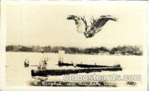 Rice Lake, Wisconsin, USA Exaggeration 1941 postal used 1941