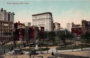 Union Square, Manhattan, New York,  Early Postcard, Unused