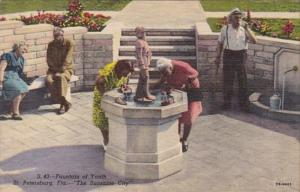 Florida St Petersburg Fountain Of Youth Curteich