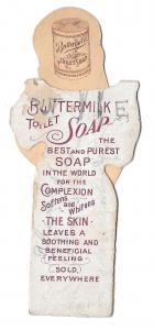 Buttermilk Toilet Soap Victorian Trade Card Diecut 2 pc Boy Doll