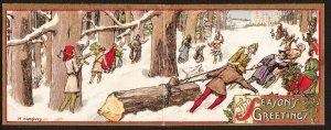 Farm Journal Christmas Greeting – Maude Humphrey (signed).- 1912
