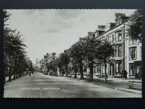 Wales ABERYSTWTH North Parade c1948 Old RP Postcard by Valentine