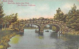 Rustic Bridge, Stow Lake, Golden Gate Park San Francisco CA