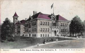 Ohio Postcard NEW LEXINGTON Perry County c1910 PUBLIC SCHOOL BUILDING 7
