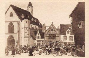 LP63  Chicago World's Fair Picturesque Belgium Postcard Old Dancing
