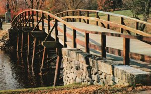 Concord, Massachusetts, MA, Old North Bridge, Chrome Vintage Postcard g8202
