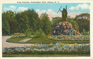 W/B King Fountain Washington Park Albany NY New York