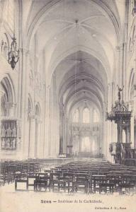 SENS, Interieur de la Cathedrale, France, PU-1906