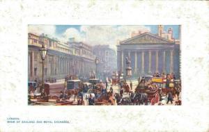 UK London Bank of England and Royal Exchange 02.09