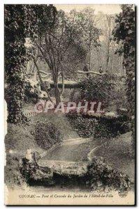 Cognac - Bridge and Waterfall Garden e l & # 39Hotel City - Old Postcard