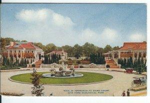 CI-008 NY, New York City, Zoological Park Baird Court Divided Back Postcard