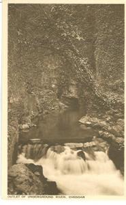 Outlet of Underground River Cheddar, early 1900s unused