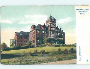 Pre-1907 ODD FELLOWS HOME Worcester Massachusetts MA A0513
