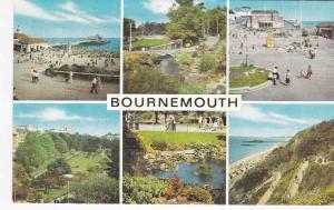 Postcard Dorset Bournemouth 6views Salmon Cameracolour