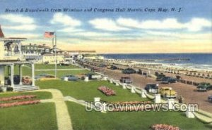 Beach And Boardwalk in Cape May, New Jersey