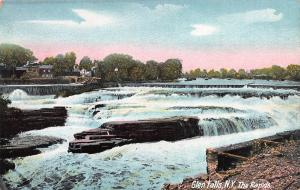 The Rapids, Glen Falls, New York, Early Postcard, Unused