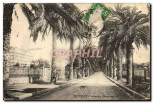 Old Postcard Hyeres Avenue Beauregard