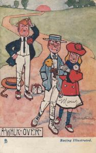 AS; A-WALK-OVER, Girl walks away with a different boy, PU-1905; TUCK 6448