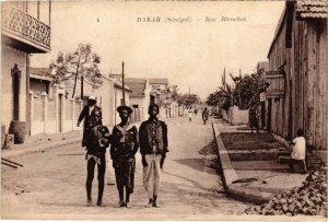 CPA AK SENEGAL Dakar - Rue Blanchot (68048)