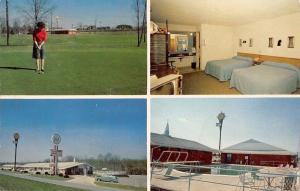 Greensboro NC~Quality Courts Diplomat Motel~Inside Out~Golf~Guest Room~1966 PC