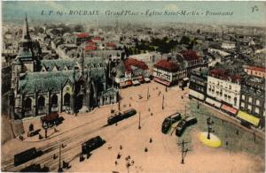 CPA  Roubaix - Grand'Place - Église Saint-Martin - Panorama  (513080)